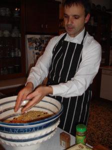 Aris making koliva